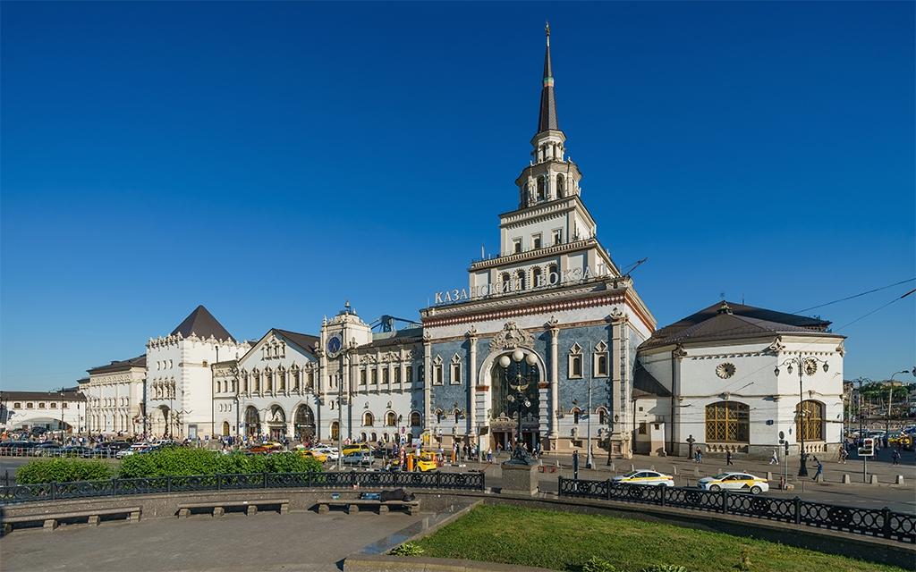 Казанский вокзал в Москве (вид с площади)